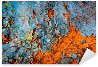 Naklejka Pixerstick Stare pomalowane ściany