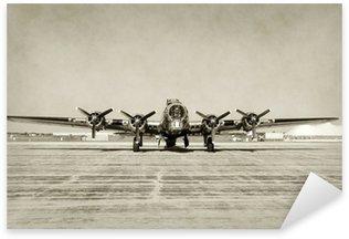 Naklejka Pixerstick Stare, widok z przodu bomber