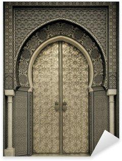 Naklejka Pixerstick Starożytni drzwi, Maroko