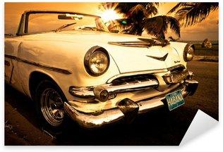 Naklejka Stary amerykański samochód, Kuba