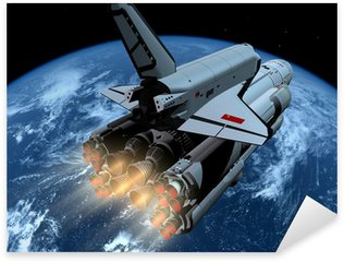Naklejka Pixerstick Statek kosmiczny