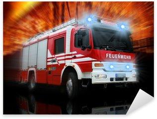 Naklejka Pixerstick Straż Pożarna