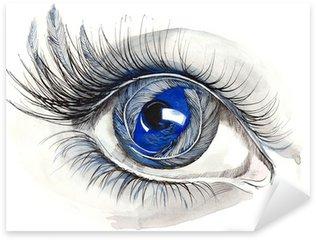 Naklejka Pixerstick Streszczenie ludzkie oko (seria C)