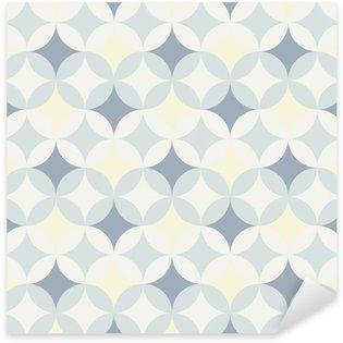 Naklejka Pixerstick Streszczenie retro geometryczny wzór