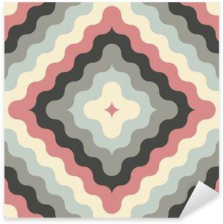 Naklejka Streszczenie retro geometryczny wzór