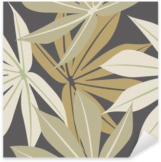 Naklejka Pixerstick Stylowe szwu z tropikalnych liści
