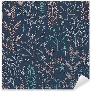 Naklejka Pixerstick Szwu z ornamentem roślinnym minimalistycznej