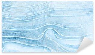 Naklejka Pixerstick Tekstury lodu na zamarzniętym jeziorze.