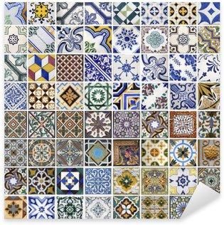 Naklejka Pixerstick Tradycyjne płytki z Porto, Portugalia