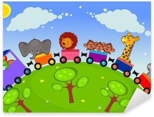 Naklejka Trenuj z afrykańskich zwierząt w samochodach