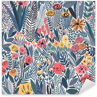 Naklejka Pixerstick Tropical szwu kwiatowy wzór