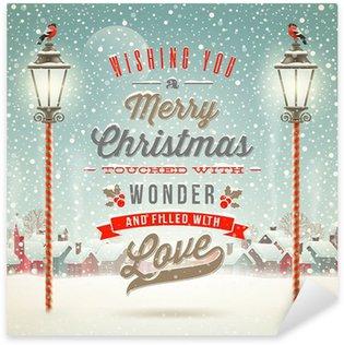 Naklejka Pixerstick Typ Christmas projektu z rocznika ulicy latarni