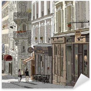 Naklejka Pixerstick Ulica w Montmartre