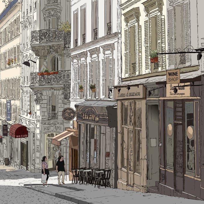 Naklejka Ulica w Montmartre - Tematy