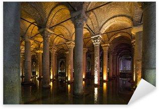 Naklejka Underground Cysterna bazyliki, Istanbul, Turkey