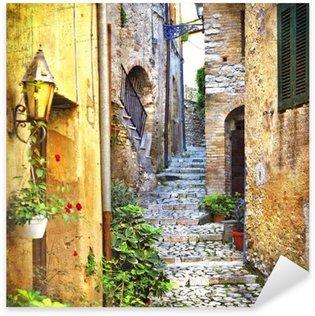 Naklejka Urocze stare uliczki śródziemnego