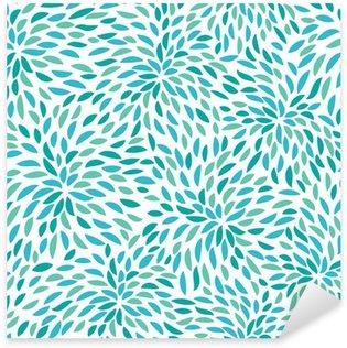 Naklejka Pixerstick Vector flower pattern. Seamless floral background.