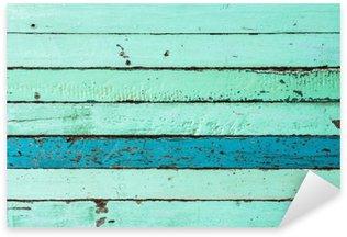 Naklejka Pixerstick Vintage niebieskie tło drewna