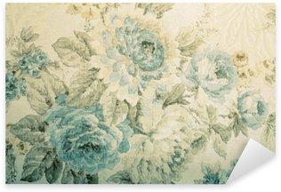 Naklejka Pixerstick Vintage tapety z niebieskim wzorem kwiatowym wiktoria