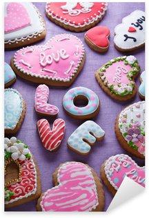 Naklejka Pixerstick Walentynki ciasta - Image