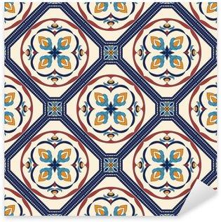 Naklejka Pixerstick Wektor bez szwu tekstury. Piękny kolorowy wzór do projektowania i mody z elementami dekoracyjnymi