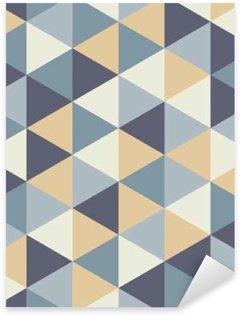 Naklejka Pixerstick Wektor kolorowy nowoczesny szwu geometrii trójkąta, kolor abstrakcyjne geometryczne tło, poduszka wielobarwny druk, retro tekstury, projektowanie mody hipster