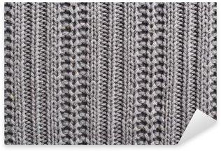 Naklejka Pixerstick Wełna Knitting bliska tekstury