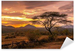 Naklejka Wieczorny widok na terytorium plemienia Bana
