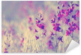 Naklejka Pixerstick Wild flowers fioletowy