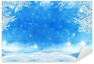 Naklejka Pixerstick Winter Christmas Background