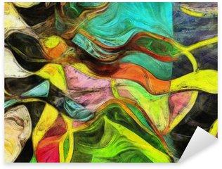 Naklejka Wirujące kształty, kolor i linie