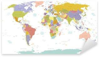 Naklejka Pixerstick Wysokiej szczegół świata map.layers używane.