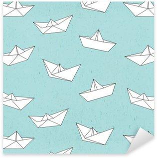 Naklejka Pixerstick Wzór łódź papieru