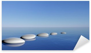 Naklejka Pixerstick Zen kamienie w niebieskiej wody