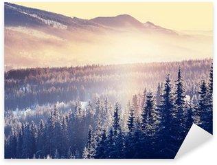 Naklejka Pixerstick Zima góry