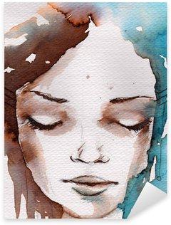Naklejka Pixerstick Zima, zimno portret