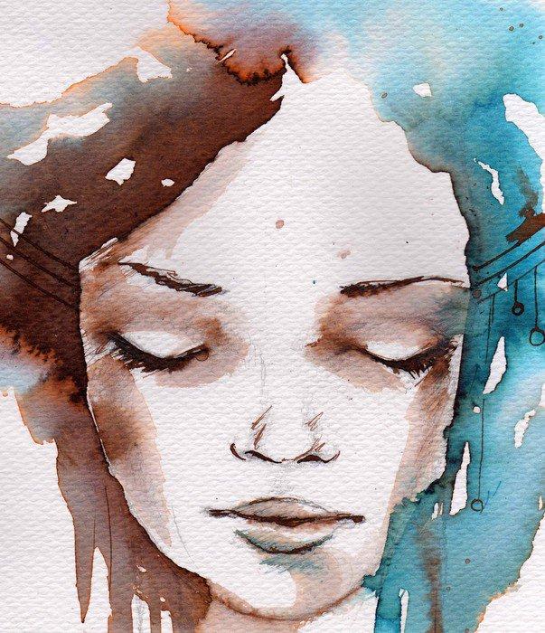 Naklejka Zima, zimno portret - Tematy