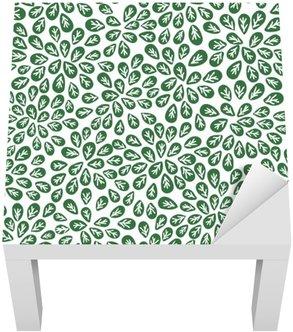Bezešvé abstraktní vzor zelené listy, zeleň vektoru