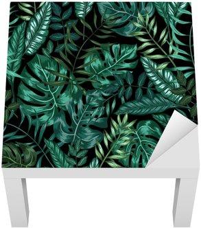 Bezešvé grafické umělecké tropické přírody džungle vzor, moderní stylový zeleň pozadí celoplošný tisk s děleným křídlem, filodendron, palmový list, kapradina vějířovitý
