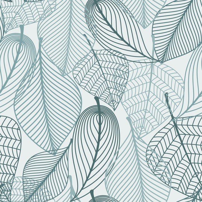 Jemný kostra listy bezešvé vzor
