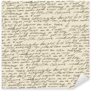 Nálepka Abstract rukopis na starý vinobraní papír. Seamless pattern, vec