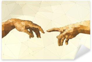 Nálepka Abstrakt Boží ruka vektorové ilustrace