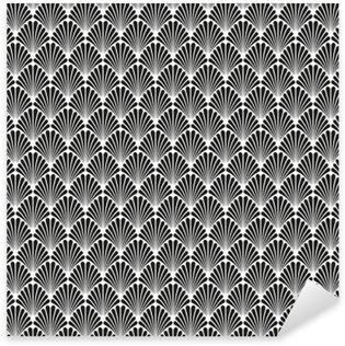 Nálepka Pixerstick Abstrakt Seamless Art Deco Vector vzor textura