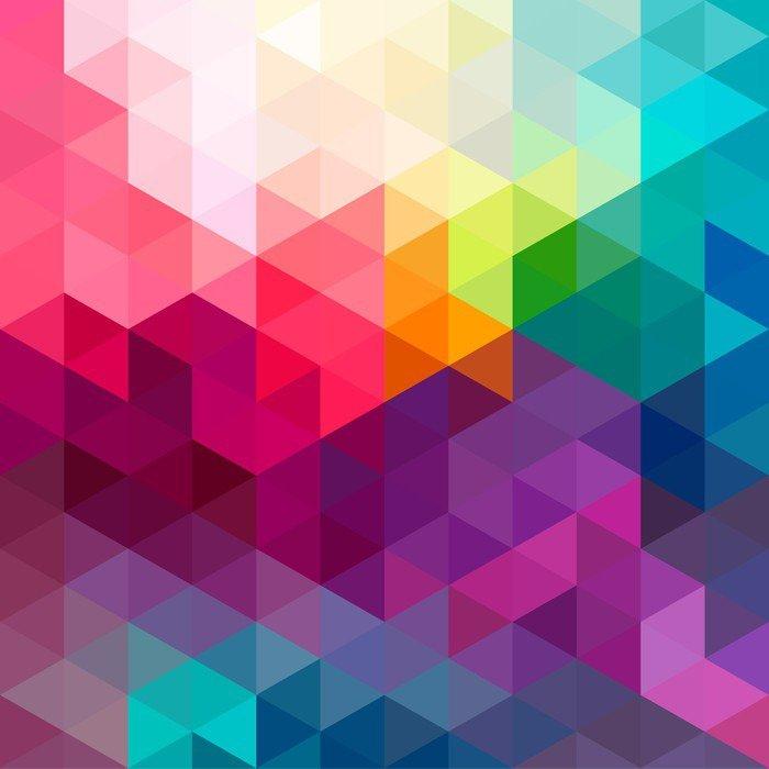 Nálepka Abstraktní barevné bezešvé vzor na pozadí - Grafika