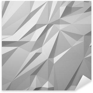 Nálepka Pixerstick Abstraktní bílé pozadí low poly
