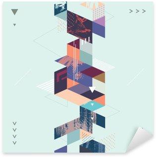 Nálepka Abstraktní moderní geometrické pozadí