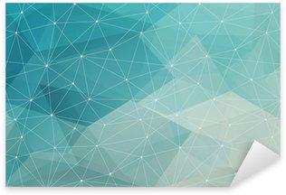 Nálepka Pixerstick Abstraktní polygonální pozadí, vektor