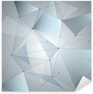 Nálepka Abstraktní pozadí, geometrie, linie a body
