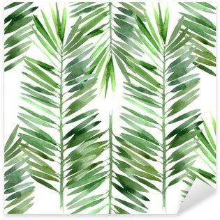 Nálepka Pixerstick Akvarel palma list bezešvé