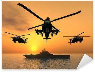 Nálepka Pixerstick Apache Helicopter